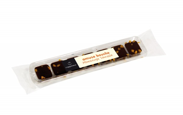 Passionsfrucht Vanille | amuse bouche chocolade