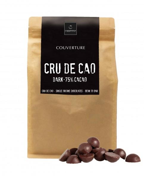Couverture CRU DE CAO 75% 1,5kg BIO