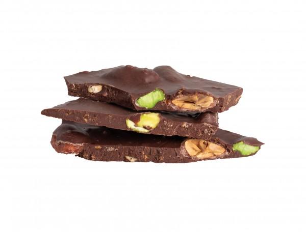 Bruch Chocolade Gesalzene Pistazie & Mandel