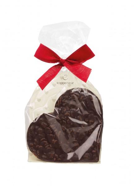 Knusperflakes Chocoladenherz Zartbitter