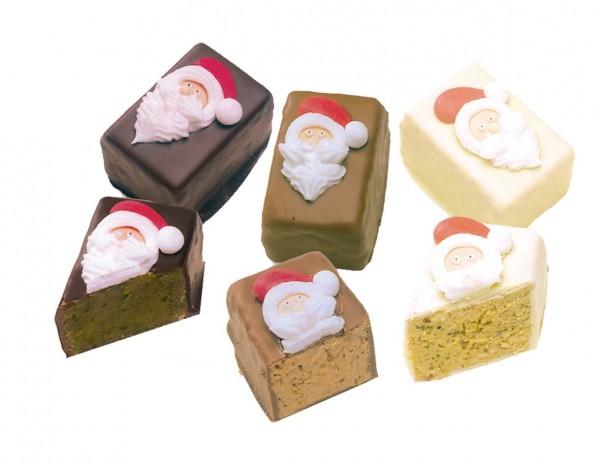 Vanillekipferl-Nougat Pastete Santa Claus