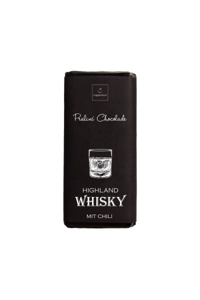 Highland Whisky mit Chili Praliné Chocolade